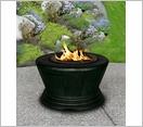 San Simeon Chat Fire Pit Black