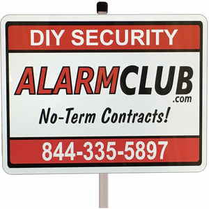 Home Security Sign w/Post