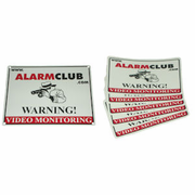 AlarmClub Video Monitoring Sign & Decals Combo