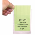 Clear View Self Adhesive Pockets