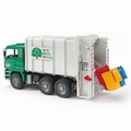 Bruder Toys 02764 - MAN TGA REAR LOADING GARBAGE TRUCK (GREEN-WHITE)
