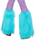Children's Aqua Furry Leg Warmer Fluffies