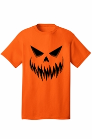 Men's Evil Jack-O-Lantern Halloween T-Shirt - click to enlarge