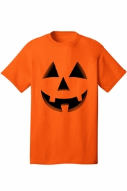 Men's Happy Jack-O-Lantern Halloween T-Shirt - click to enlarge