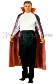 Red and Black Reversible Cape with Collar - click to enlarge