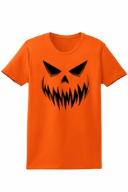 Women's Evil Jack-O-Lantern Halloween T-Shirt - click to enlarge
