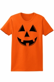 Women's Happy Jack-O-Lantern Halloween T-Shirt - click to enlarge