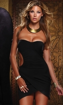 Black Halter Open Side Embrace Dress