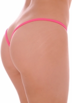 Hot Pink Lined V Back Thong