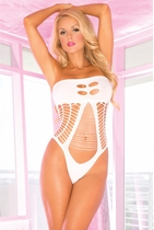 White Come Play With Me Bodysuit Teddy