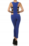 Colors Elastic Band Bodysuit Jumpsuit