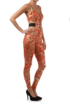 Design Printed Bodysuit Jumpsuit