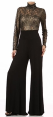 Lace Jumpsuit with Wide Legs