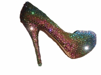 Special Effect Color Swarovski Crystal Shoes