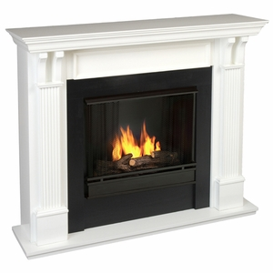 Ashley 7100 Gel Fireplace White Finish