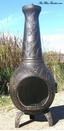 Butterfly Style Chiminea CH-017 Gold Accent