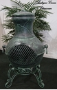 Etruscan Style Chiminea CH-028 Antique Green