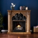 Savino Old World Oak Gel Fireplace