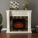 St. Lawrence Ivory Electric Fireplace