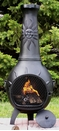 Sun Stack Style Chiminea CH-029 Charcoal