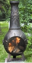 Sun Stack Style Chiminea CH-029 Gold Accent
