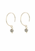 14k Gold and Diamond Nugget Earrings