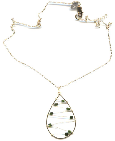 Abacus Tourmaline Necklace
