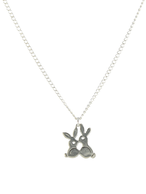 Bunnies Charm Necklace