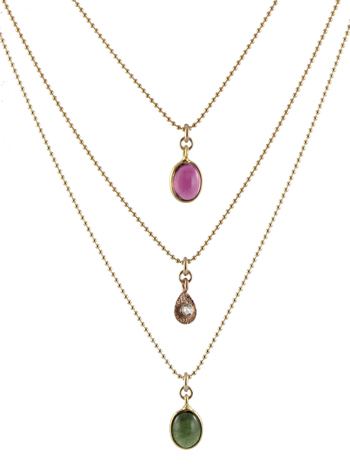 Delicate Gold Gemstone Necklaces
