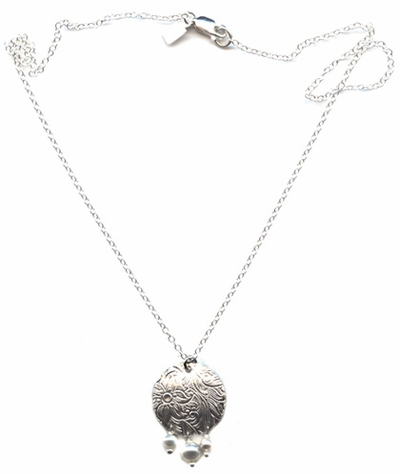 Domed Pearl Necklace