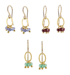 Gem Cluster Earrings (3 colors)