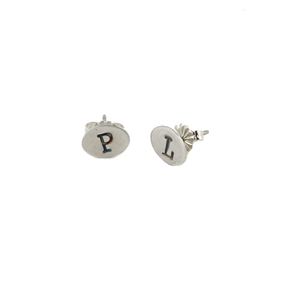 Initial Post Earrings