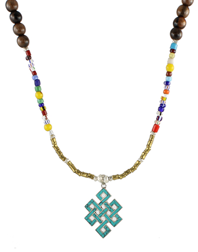 Mixed Tribal Bead Necklace