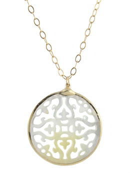 Moonbeam Mother of Pearl Necklace