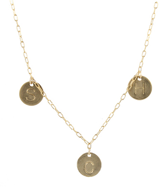 Mother's Family Initial Necklace, GF