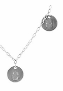 Mother's Family Initial Necklace, SS