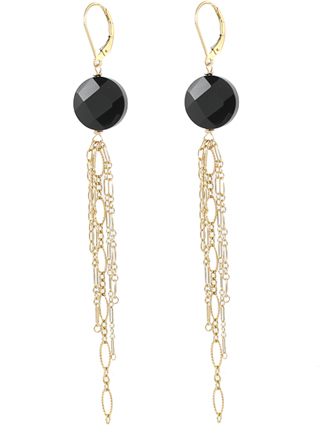 Onyx Fringe Earrings