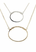 Open Oval Necklace