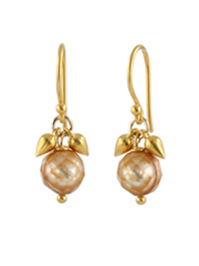 Pearl Flower Bud Earrings