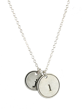 Rimmed Custom Initial Pendant Necklace