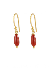Teds Coral Earrings