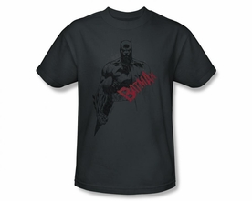 BATMAN T-SHIRT CHARACTER BLACK SKETCH