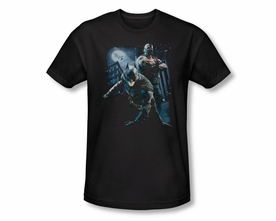 BATMAN T-SHIRT DARK KNIGHT RISES BATTLEFIELD GOTHAM