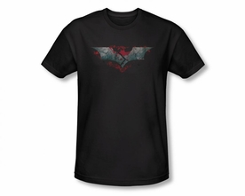 BATMAN T-SHIRT DARK KNIGHT RISES SPLIT & CRACK LOGO