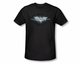BATMAN T-SHIRT DARK NIGHT RISES CRACKED BAT LOGO