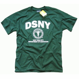 DSNY T-SHIRT, Officially Licensed Department of Sanitation New York Crewneck Logo Tee