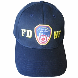 FDNY NEW YORK CITY FIRE DEPARTMENT EMBROIDERED SHIELD BASEBALL CAP