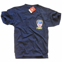 FDNY NEW YORK CITY FIRE DEPARTMENT EMBROIDERED SHIELD T-SHIRT