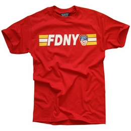 FDNY NEW YORK CITY FIRE DEPARTMENT KEEP BACK 200 FEET T-SHIRT