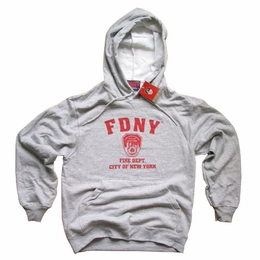 FDNY NEW YORK CITY FIRE DEPARTMENT SCREEN PRINTED SHIELD HOODIE SWEATSHIRT